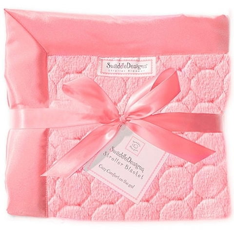 Плед детский SwaddleDesigns Pink Puff Circles