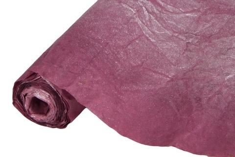 Бумага жатая эколюкс 70см х 5м бордовая/серебро 17S