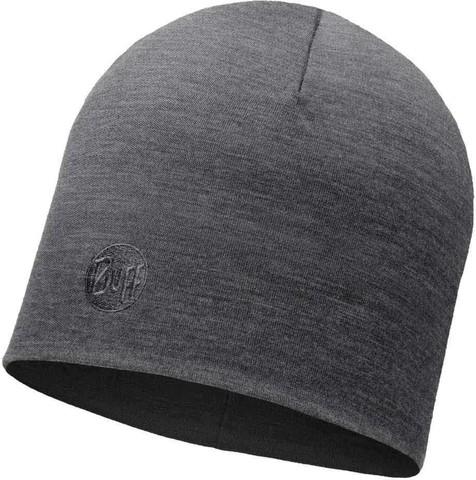 Теплая шерстяная шапка Buff Solid Grey фото 1