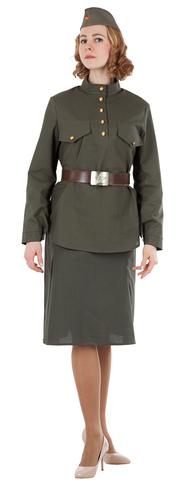 Костюм женский военный Солдатка (бязь)