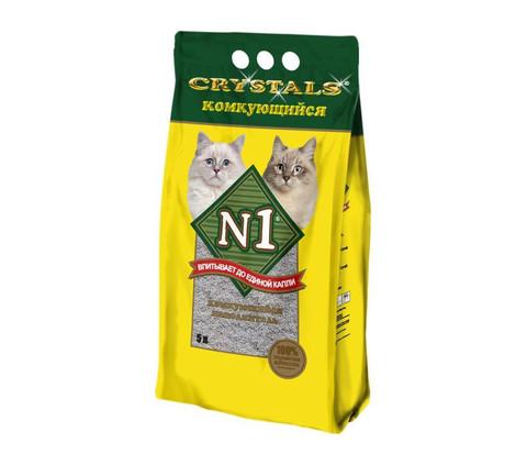 Комкующийся наполнитель N1 Crystals 5 л
