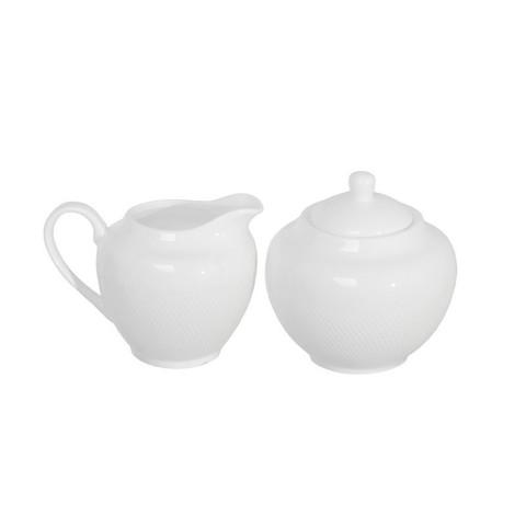 Сахарница и Молочник 150мл фарфор Royal Sutton белый TUDOR (TUC1062-30)