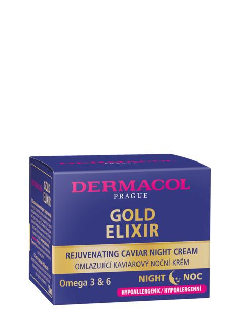 Dermacol GOLD ELIXIR Ночной крем с экстрактом икры для интенсивного омоложения (50+)