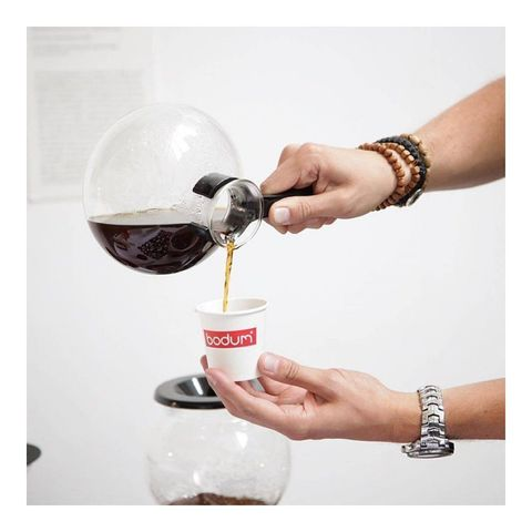 Кофеварка вакуумная Bodum Pebo (1 литр), прозрачная