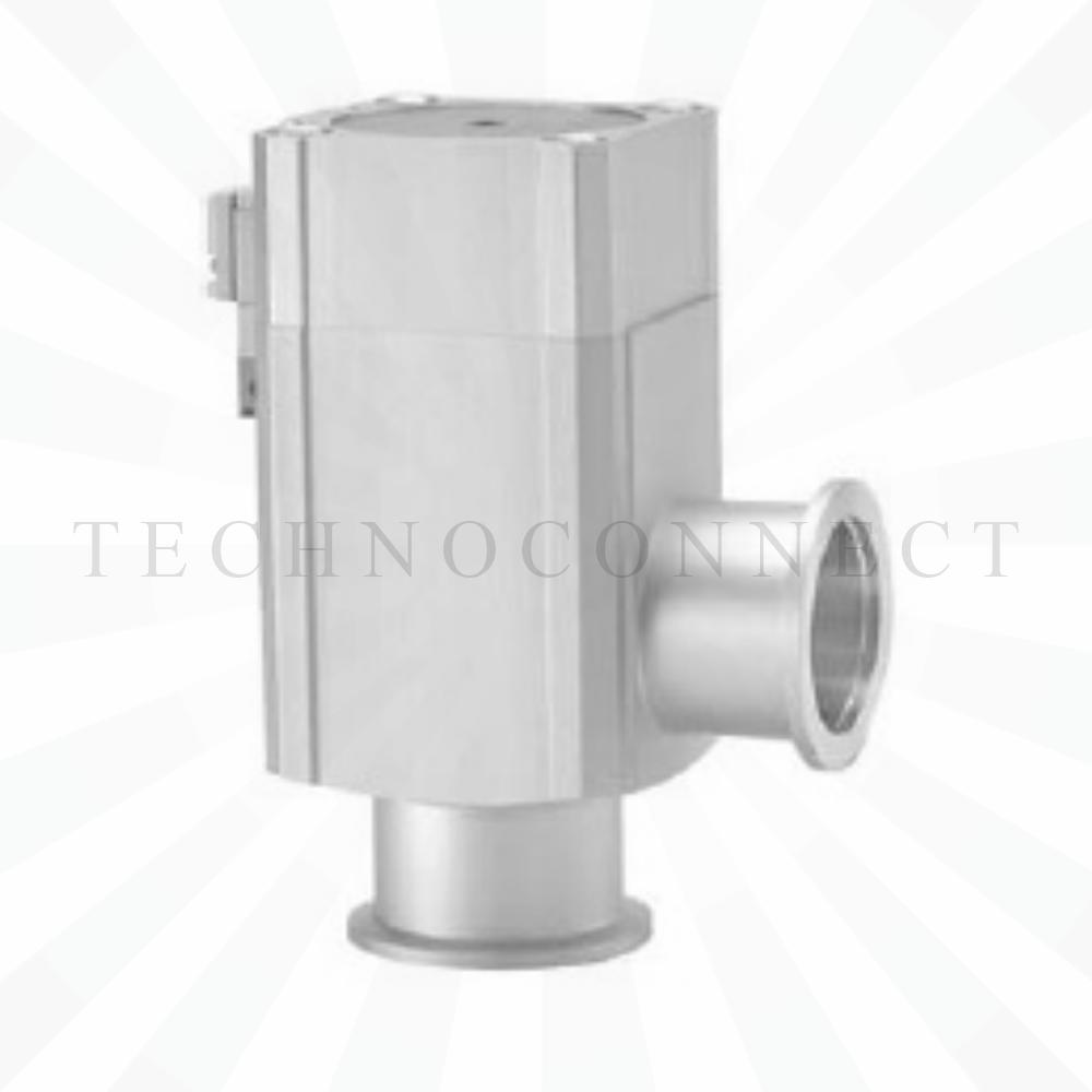 XLA-16-2M9//  Клапан высоковакуумный, угл., сильфонный, пн/упр, Н.З., алюм., FKM, KF16, с возм. опроса положений