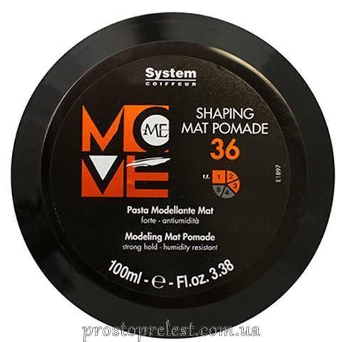Dikson Move Me 36 Shaping Mat Pomade - Матовая гель помада сильной фиксации