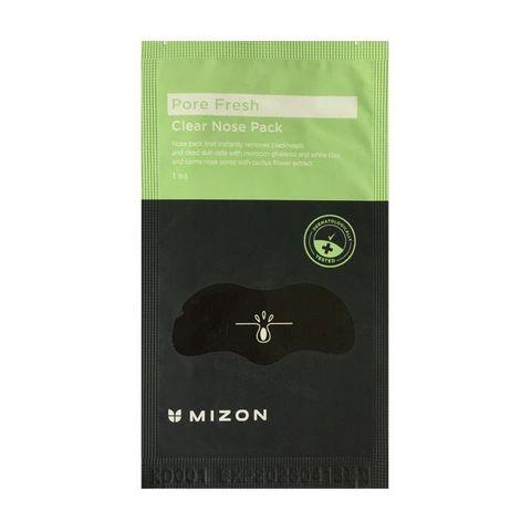 Патчи для носа Mizon для очищения и сужения пор на носу с марокканской глиной гассул