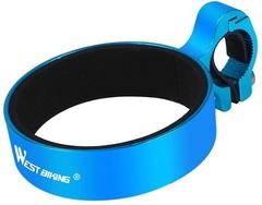 Держатель для стакана/термоса на руль West Biking blue