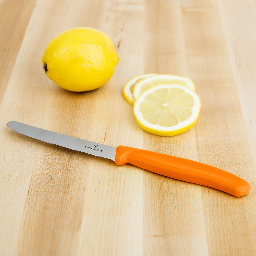 Нож Victorinox с волнистым лезвием, оранжевый (6.7836.L119) - Wenger-Victorinox.Ru