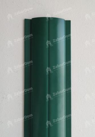 Евроштакетник металлический 102 мм RAL 6005 П - образный двусторонний 0.45 мм