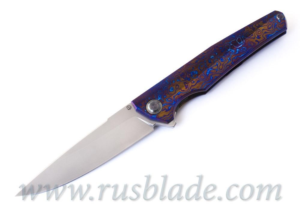 Cheburkov Hudson M390 Timascus Full Custom
