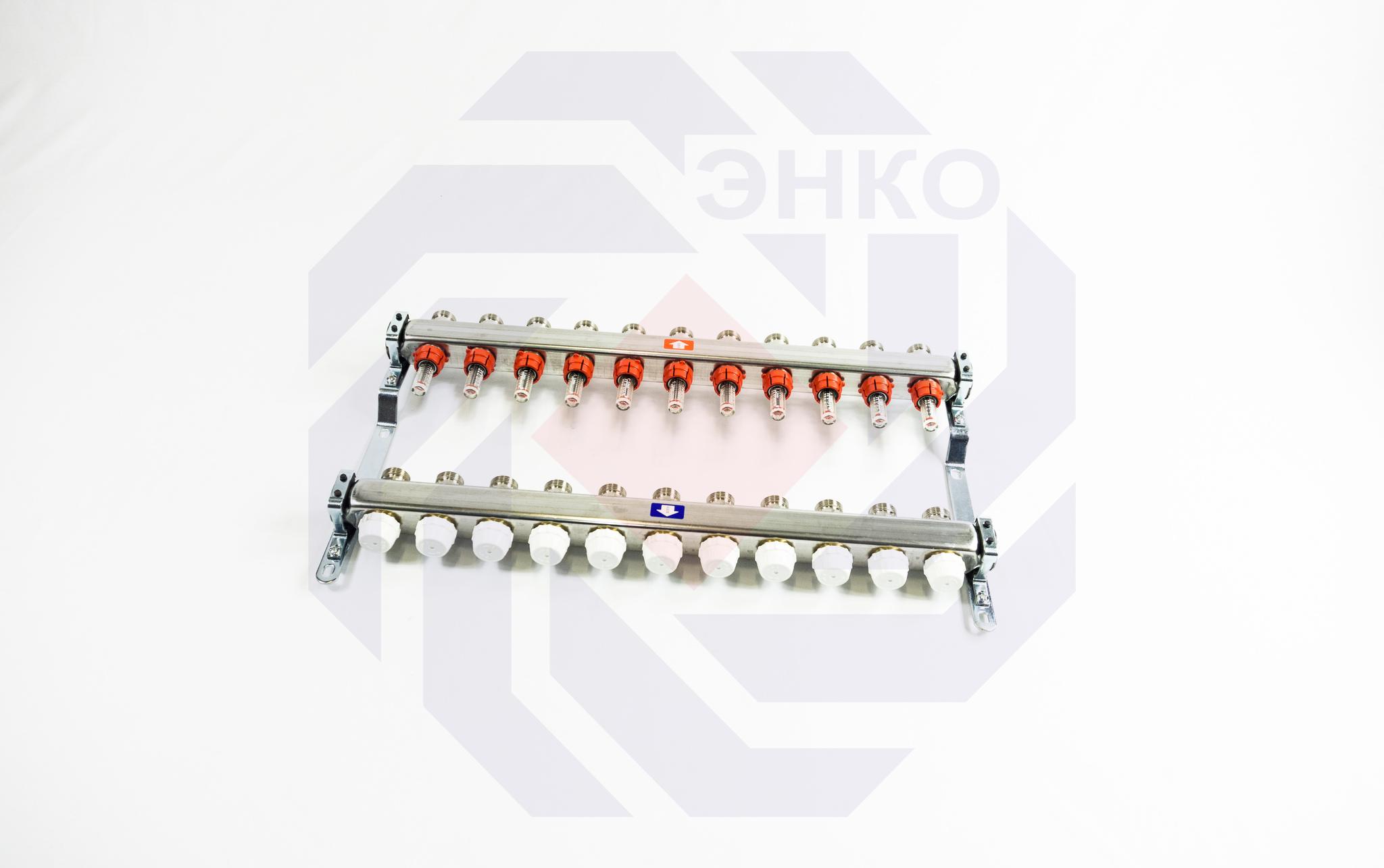 Комплект коллекторов с расходомерами ITAP 918C 11 контуров