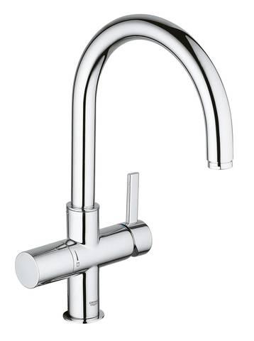 Смеситель для кухни GROHE Blue с высоким изливом для водопроводной и фильтрованной воды, хром (33251000)