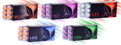 APL. Набор драже 9 коробок MLS+ALT+GTS+HPR+GRW для очищения организма и повышения тонуса