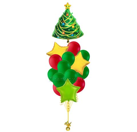 Букет из шаров Новогодняя елка