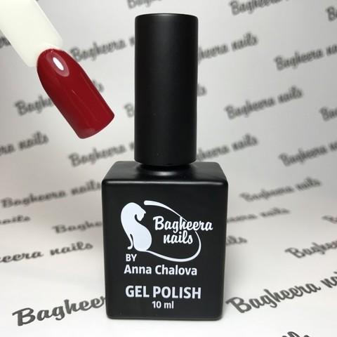 Bagheera Nails BN-49 тёмно-красный, гранатовый цвет 10 мл