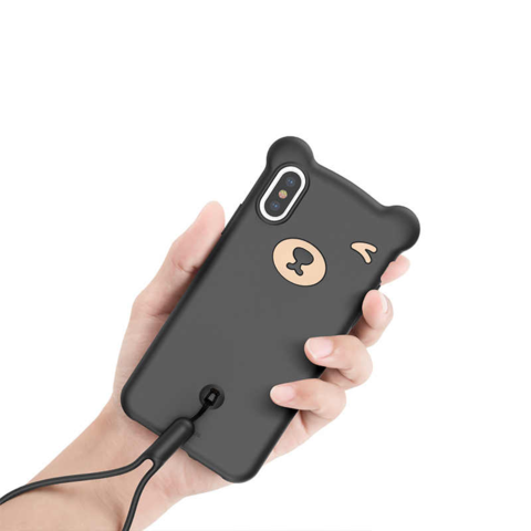Чехол iPhone XS Max Baseus Bear Case /black/