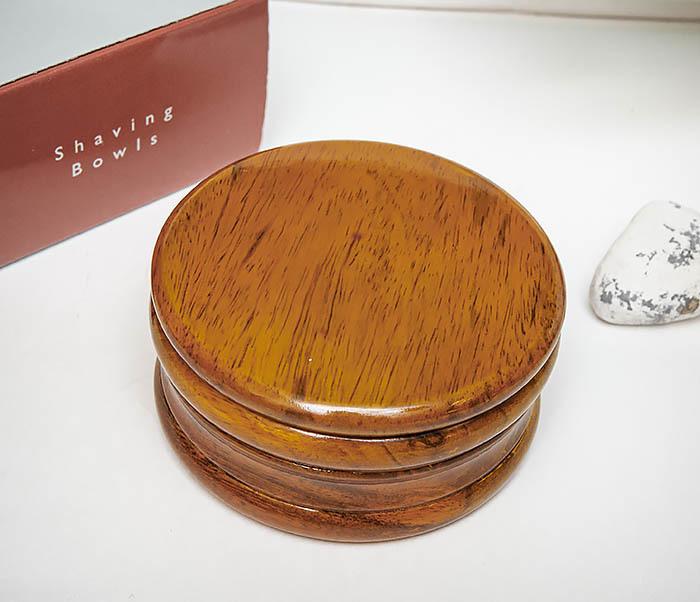 RAZ510-3 Чаша для бритья «PARKER» из дерева манго, светло-коричневая фото 03