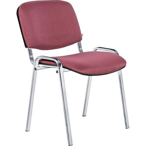 Стул офисный Easy Chair Rio Изо бордовый (ткань/металл хромированный)