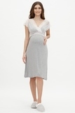 Ночная сорочка для беременных и кормящих 09605 серый