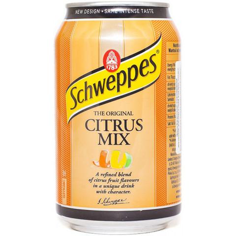 Schweppes Citrus mix Швепс цитрусовый микс 0,33 л