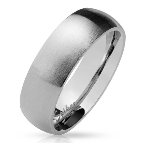 Кольца матовые мужские и женские из ювелирной стали SPIKES R027S