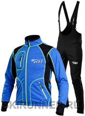 Утеплённый лыжный  костюм RAY STAR WS blue-black 2018 мужской