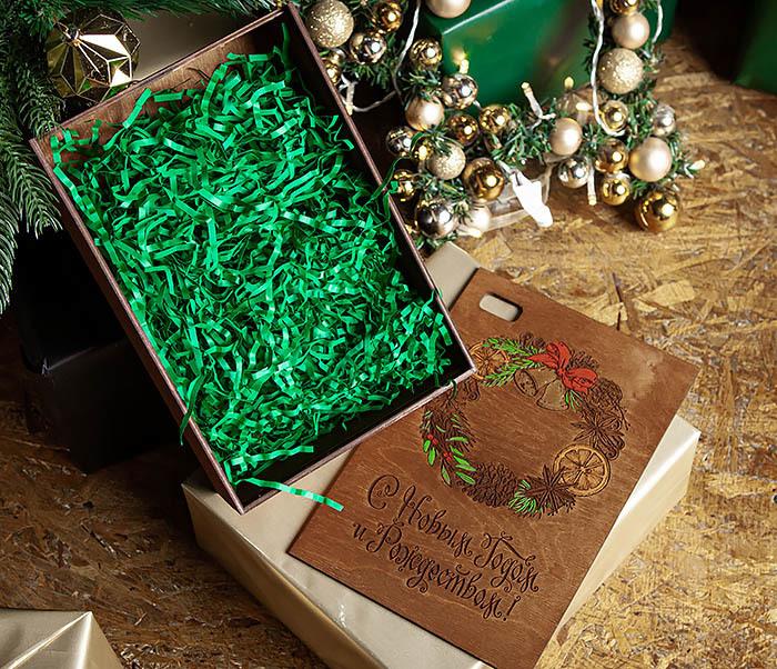 BOX257-2 Подарочная коробка «С Новым годом и Рождеством!» (18*26*7,5 см) фото 07