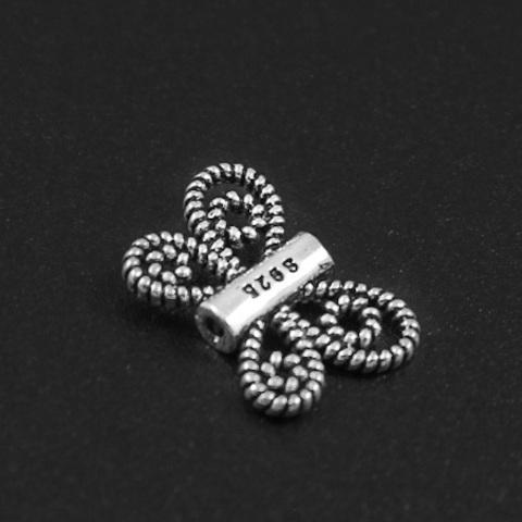 Бусина Бабочка 13х9 мм серебро 925