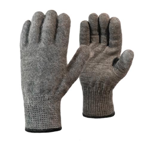 Перчатки «Ворса» акриловые одинарные серые с внутренним начесом