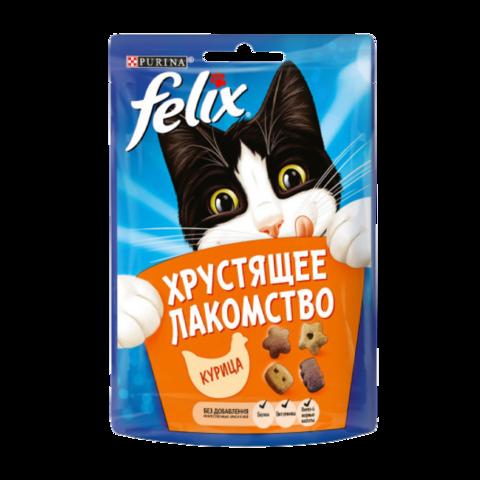 Felix Хрустящее Лакомство для взрослых кошек с курицей