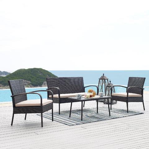 Комплект кофейный (стол, 2 кресла и диван), 210273