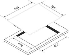 Варочная панель Zigmund & Shtain MN 84.61 S схема