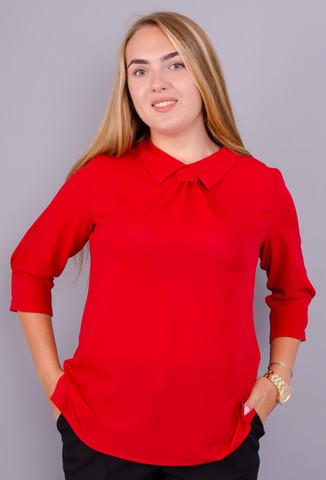 Кортні. Стильна блузка великих розмірів. Червоний.