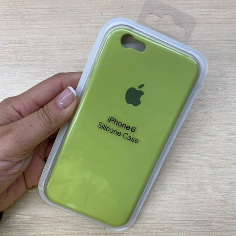 Чехол iPhone 6S Silicone Slim Case /lime/