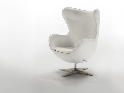 Кресло Egg белое