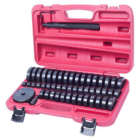 МАСТАК (100-20049C) Набор оправок для монтажа и демонтажа подшипников, 18-74 мм, кейс, 49 предметов