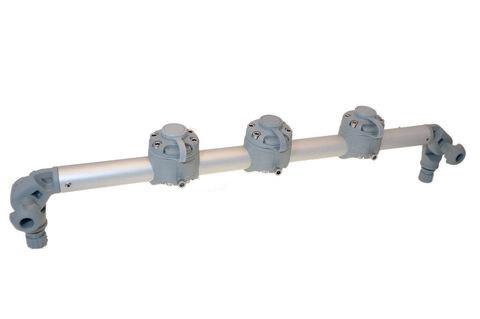 Тарга с тремя замками Gr610-3, 610 мм, серая