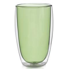 Стакан с двойными стенками цветной 450 мл, зеленый