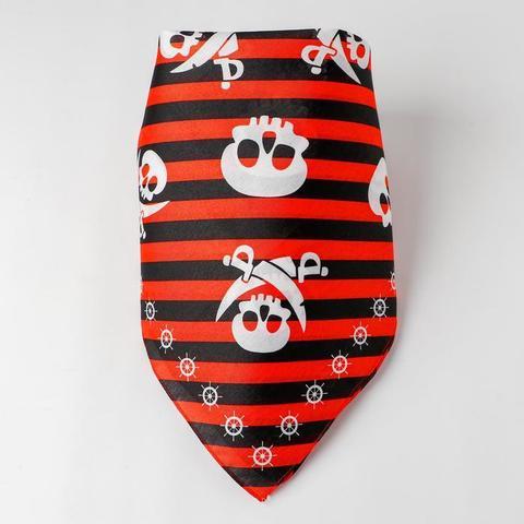 Купить Бандана «Настоящий пират», красная, 50х50 см в Магазине тельняшек