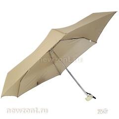 Карманный женский зонтик 3 Слона L5605 бежевый