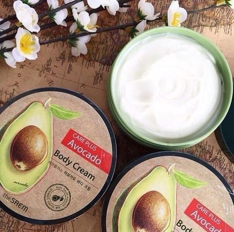 Крем для тела питательный с экстрактом авокадо The Saem Care Plus Avocado Body Cream