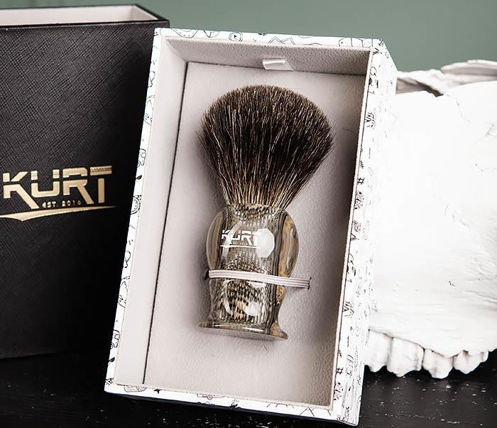 RAZ473 Помазок из барсучего волоса в подарочной упаковке фото 02