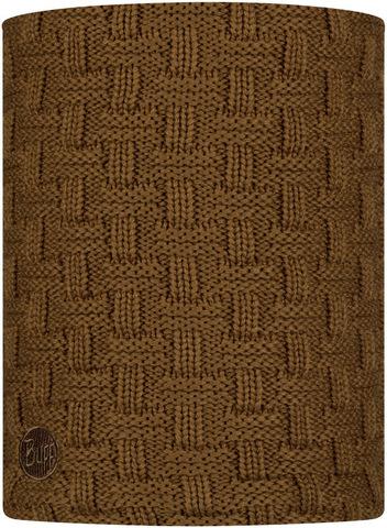 Вязаный шарф-труба с флисом Buff Neckwarmer Knitted Polar Airon Bronze фото 1