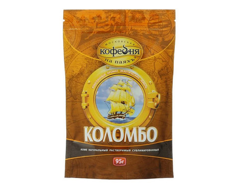 купить Кофе растворимый Московская Кофейня на Паяхъ Коломбо, 95 г пакет