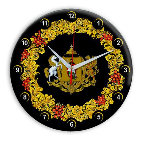 Часы в стиле Хохлома сувенирные Рязань 03