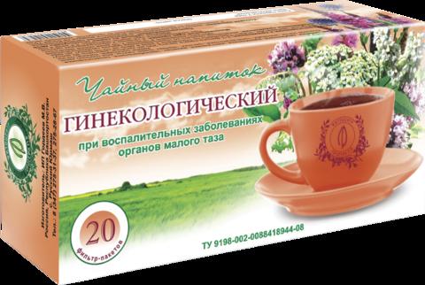 Чайный напиток «ГИНЕКОЛОГИЧЕСКИЙ», ф/п, 20 шт, кор. (ИП Гордеев М.В.)