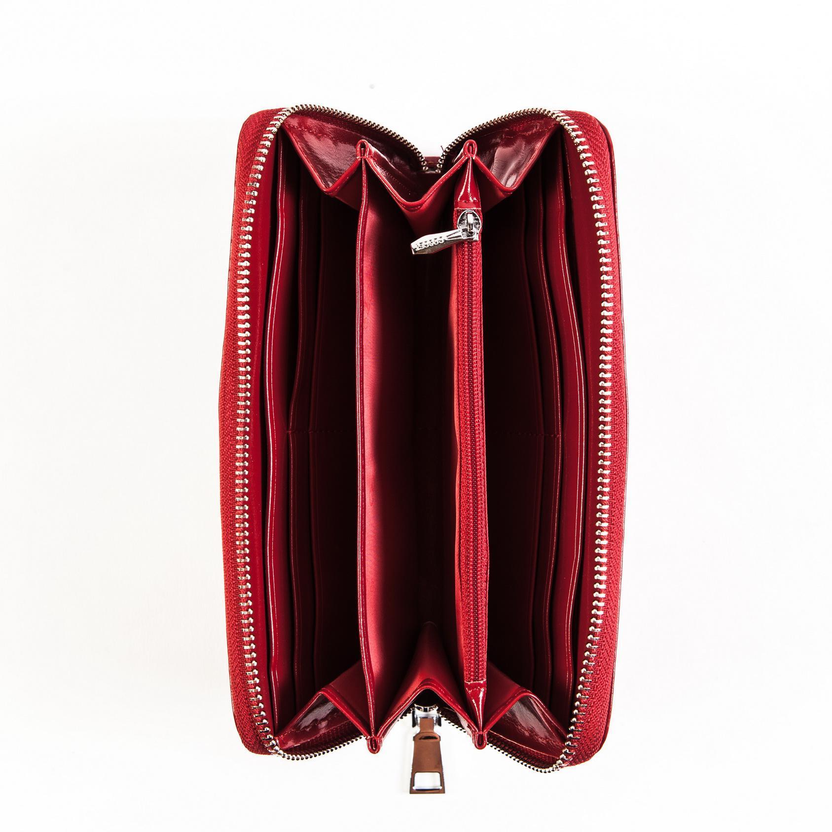 Кошелёк-клатч красный женский Coscet CS208-26B