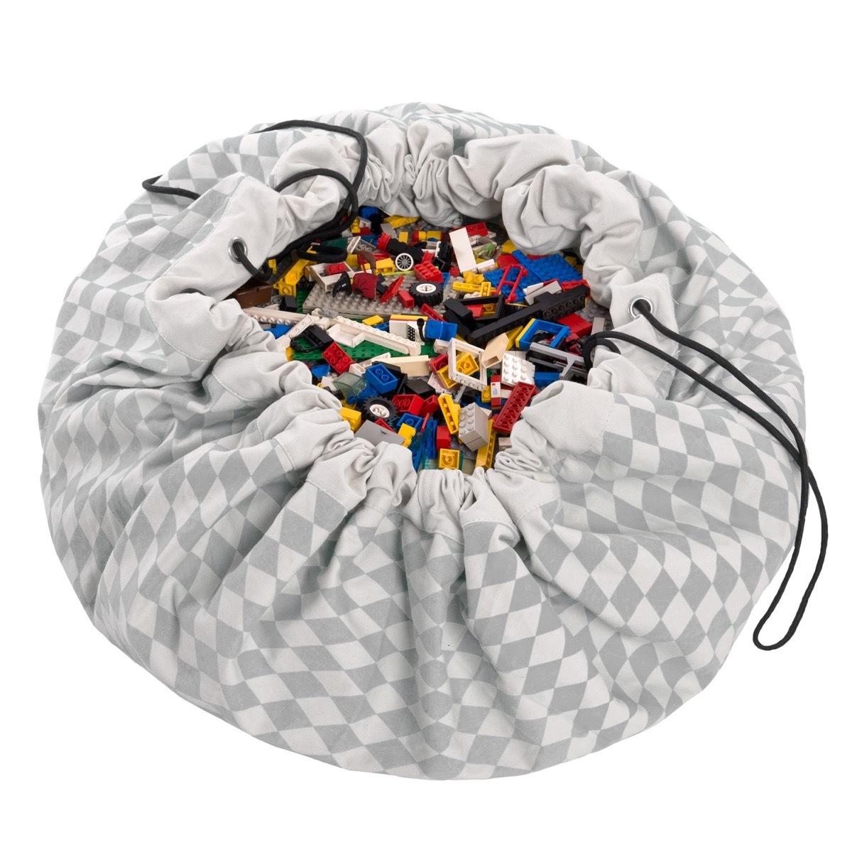 Коврик-мешок для игрушек Play&Go. Коллекция Print. Серый бриллиант