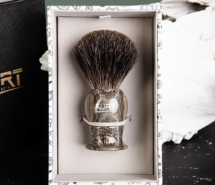 RAZ473 Помазок из барсучего волоса в подарочной упаковке фото 03